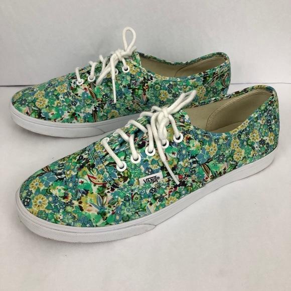 Vans Floral Low Top Lace Up Sneakers